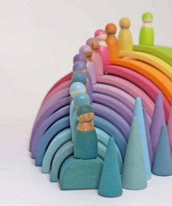 pastel Friendsnew 2021 version Handmade sustainable wooden peg dolls Grimm's