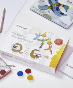 Drawing & painting set - hexagonal colouring pencils and opaque watercolour paint (German version)- Stockmar