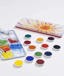 Watercolour opaque paint set (12 colours) / Waldorf art supplies - Stockmar