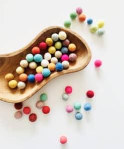 Woollen felt balls (55) - Threewood_Teia Education & Play